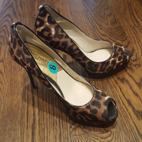 53006fc9072e Michael Kors Leopard Print Heels Price Slashed. M 5b0ea87d00450f958f5dc161